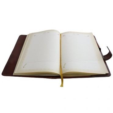 Кожаный ежедневник Метка Коричневый