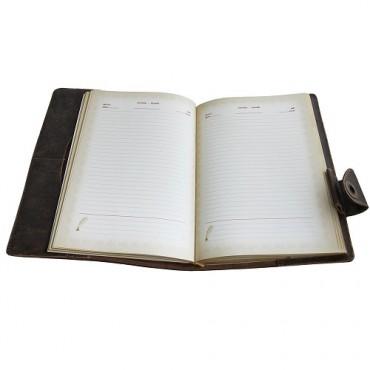 Кожаный ежедневник Оптимус Коричневый