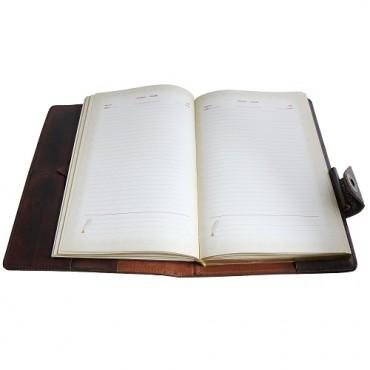 Кожаный ежедневник Бомбер Коричневый