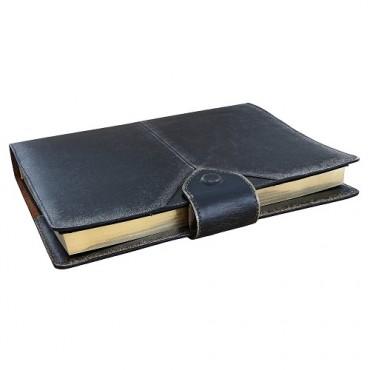 Кожаный ежедневник Бомбер Черный