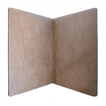 Поздравительная папка из натуральной кожи Лавр